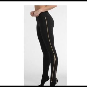 Pure Barre Splits59 black and gold leggings